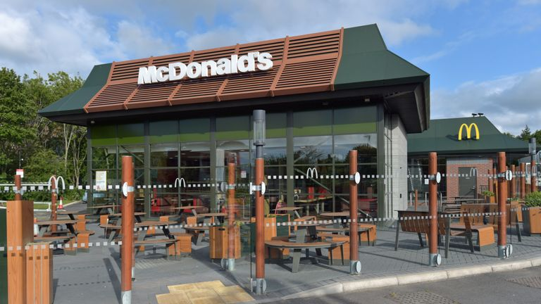 File photo dated 13/05/20 showing branch of McDonald's at Boreham, near Chelmsford in Essex. McDonald's said it is rapidly expanding its store openings across the UK to have more than 1,000 restaurants reopened for drive-thru or delivery by next Thursday, June 4.
