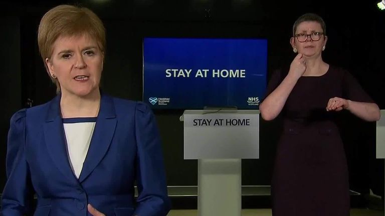 Sky News Scottish First Minister