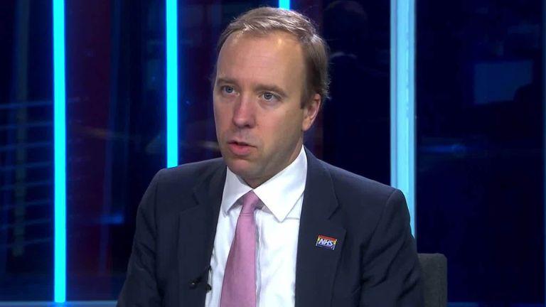 Matt Hancock Health Secretary