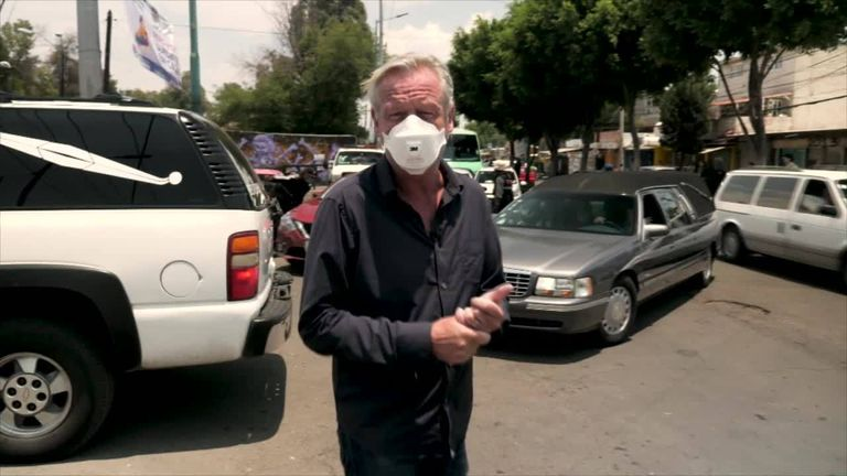 Sky's Stuart Ramsay reports from Mexico on the impact coronavirus is having there
