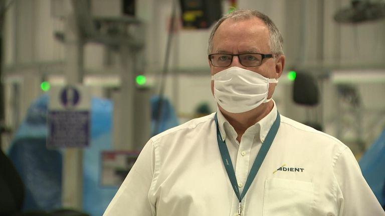 Adient plant manager John Wood