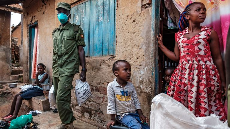 Kampala, Uganda, during lockdown amid the coronavirus pandemic