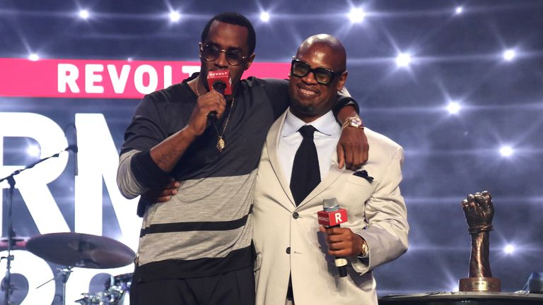 Andre Harrell (right), with Sean 'Puffy/Diddy' Combs in 2015