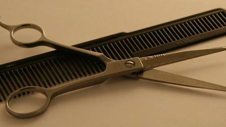 Astronaut Neil Armstrong's hairdressing scissors and comb are on sale for £25,000. Pic: Paul Fraser Collectibles