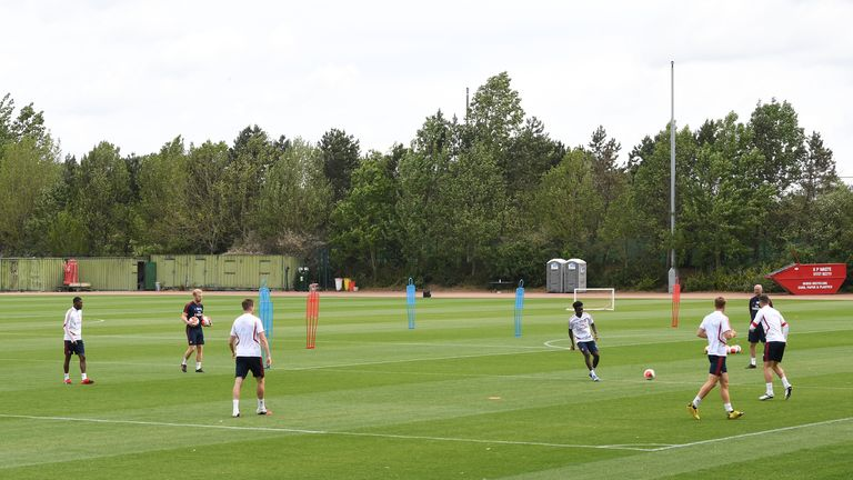 Arsenal training session at London Colney on 22 May