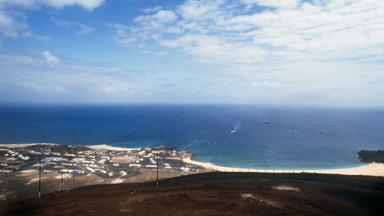 Ascension Island is one of the places said to have been under consideration. File pic