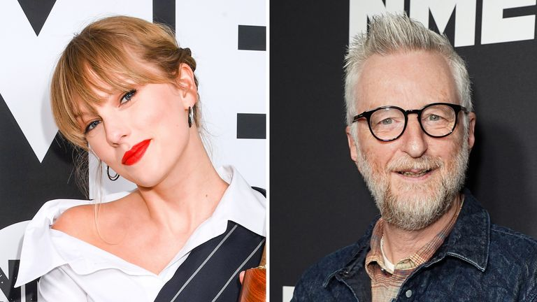 Taylor Swift and Billy Bragg met at the NME Awards
