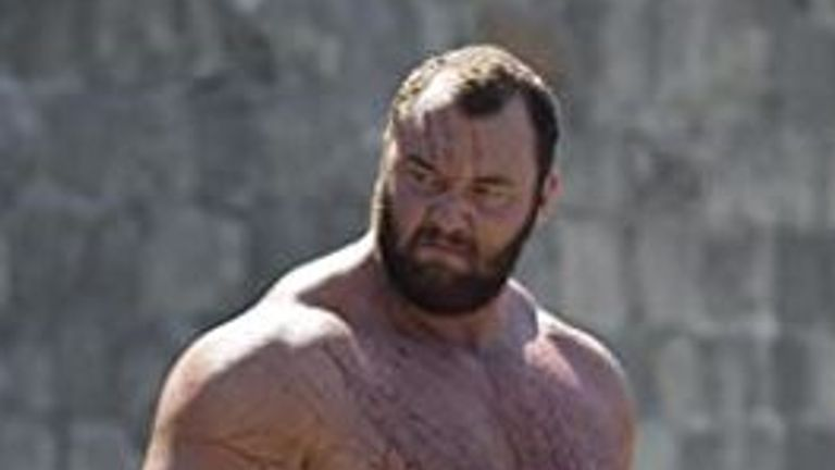 Hafthor Bjornsson played 'The Mountain' in Game of Thrones