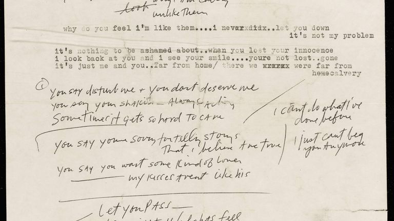 The document, which features lyrics for Most Likely You Go Your Way