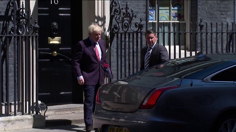 Boris Johnson MP on his way to PMQs