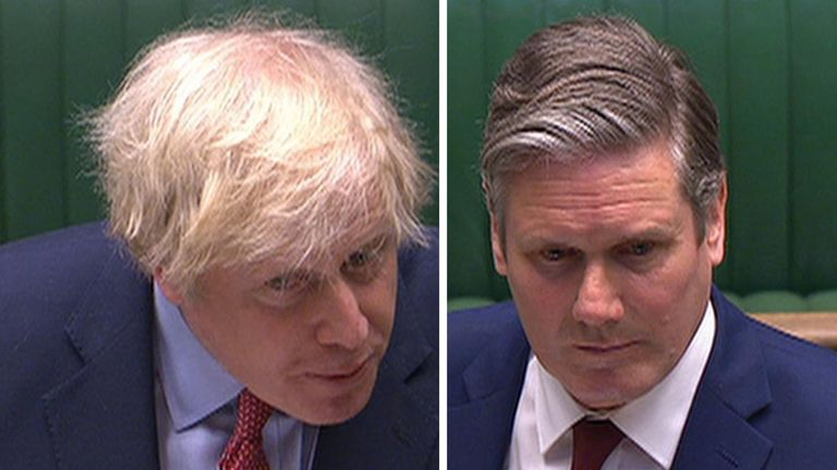 Boris Johnson and Sir Keir Starmer