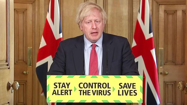 Boris Johnson lockdown presser 27 may