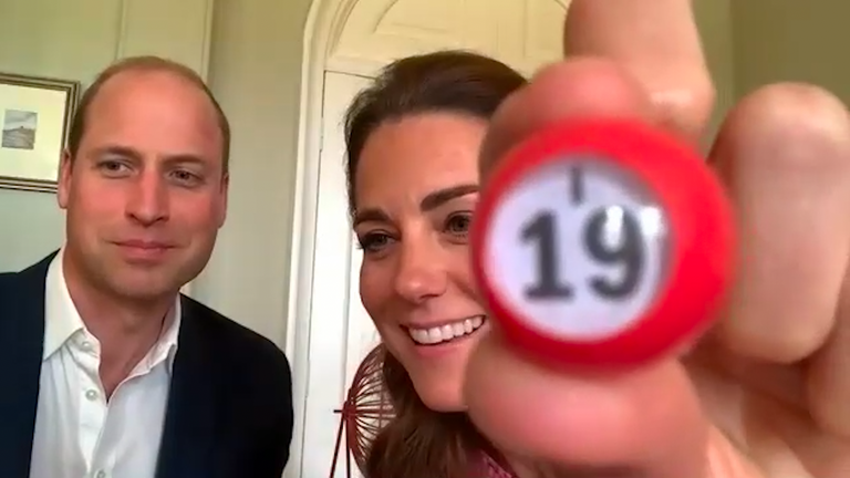 The couple giggled as they called the game. Pic: Kensington Palace