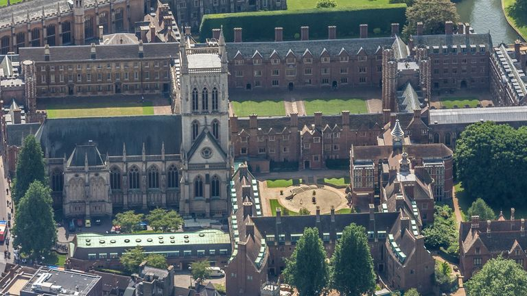 St John's College Cambridge will only be holding online lectures until the end of the 2020-21 academic year