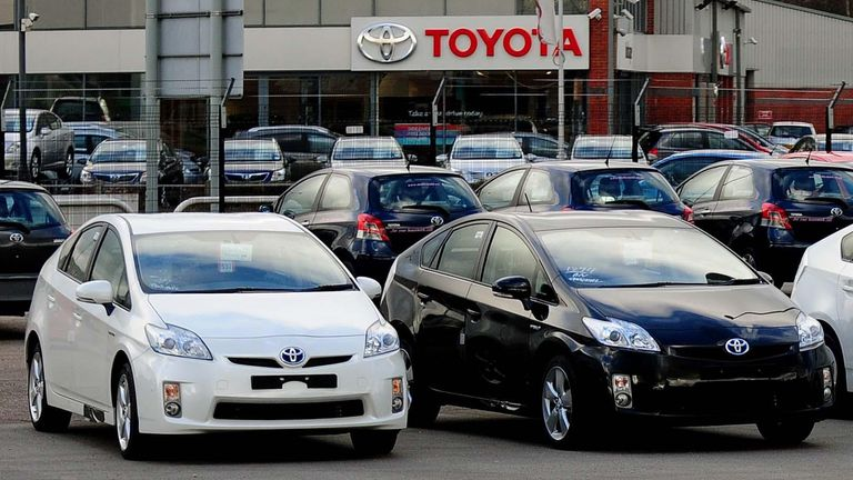 Spacious car showrooms can reopen on 1 June. File pic