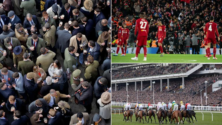 Cheltenham and Liverpool's home match against Atletico Madrid