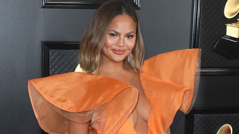 Chrissy Teigen has said she regrets her former surgery. Pic: Xavier Collin/Picturegroup/Shutterstock