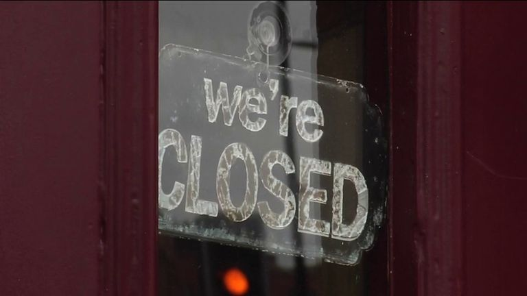 north england lockdown store closed sign