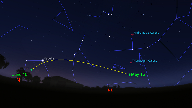 RAS has made a guide to spotting the comet in the evening sky