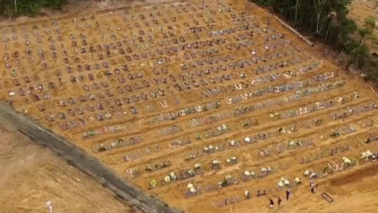 People have been buried in mass graves in Manaus during the coronavirus pandemic