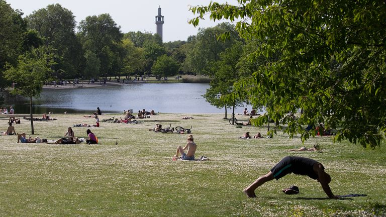 People will be allowed to sit in the park as long as they maintain social distancing rules