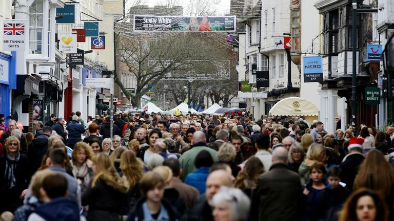 Thousands of high street shops can reopen from mid-June. File pic
