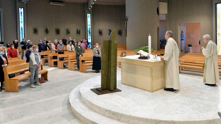 Churches in Italy are welcoming back their congregations on Monday with new safety measures in place