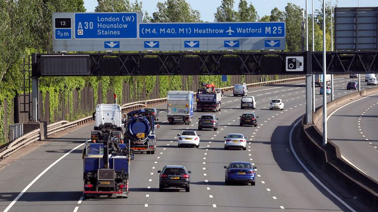 Traffic has increased on motorways after Boris Johnson eased lockdown driving restrictions