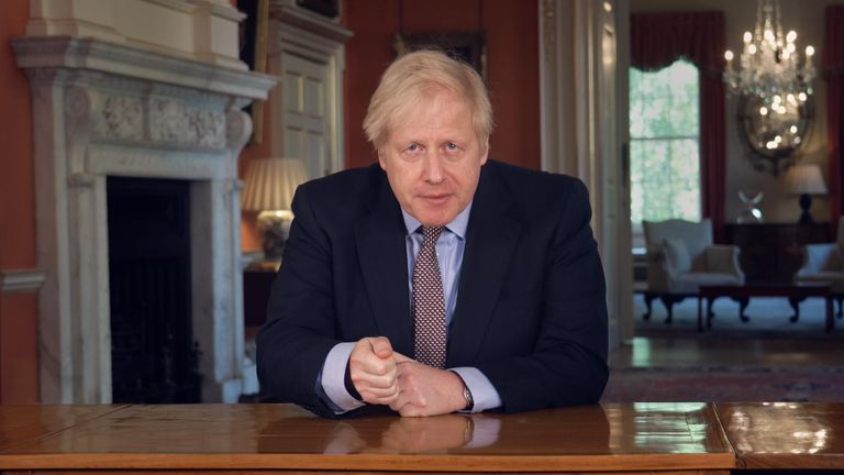 Prime minister Boris Johnson says he 'actively encouraged' those who cannot work from home to go to work