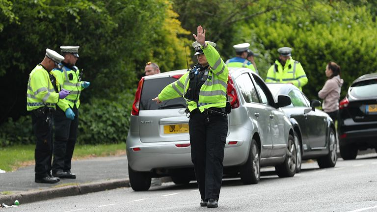 Police carryout stop checks on motorists in the Brighton area