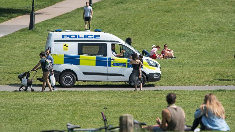 Officers have also been out enforcing the lockdown measures. Pic: Ben Cawthra/Shutterstock