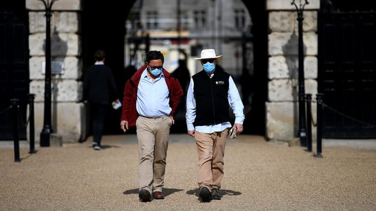 The UK government is now advising people to wear masks where they cannot practise social distancing