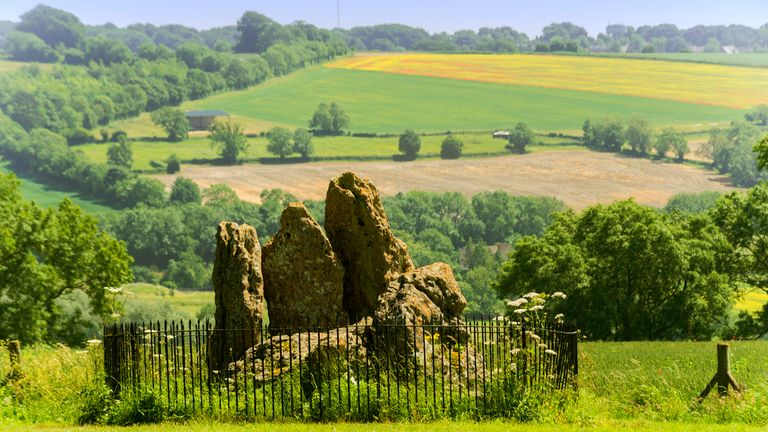 The Whispering Knights standing stones in the Oxfordshire Cotswolds