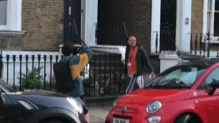 Embattled adviser Dominic Cummings was heckled by members of the public in North East London over his lockdown movements.