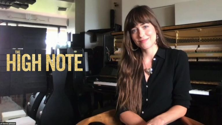 Actor Dakota Johnson was talking to Sky's entertainment reporter Claire Gregory, ahead of the release of new film The High Note