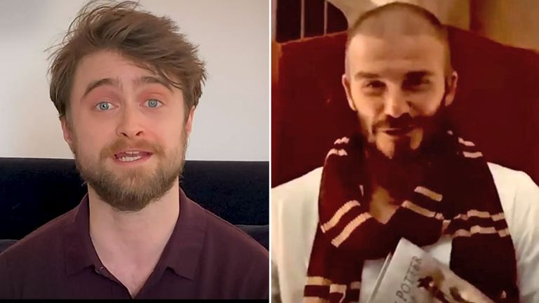 Daniel Radcliffe and David Beckham