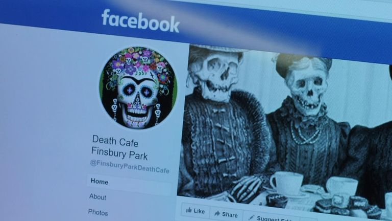 Finsbury Park death cafe's Facebook page
