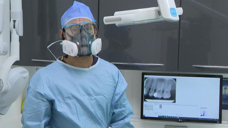 Dentists require full PPE before they can operate