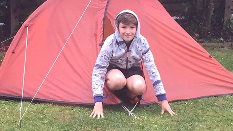 Max has been camping out for nearly nine weeks. Pic: Rachael Woosey