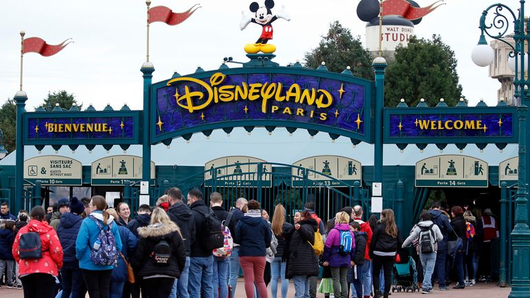 One of the final days of operation for Disneyland Paris before it closed back in March