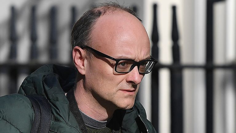Dominic Cummings is pictured leaving Downing Street 14 April