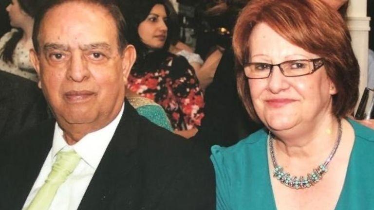 Dr Karamat Ullah Mirza and his wife, Estelle Mirza