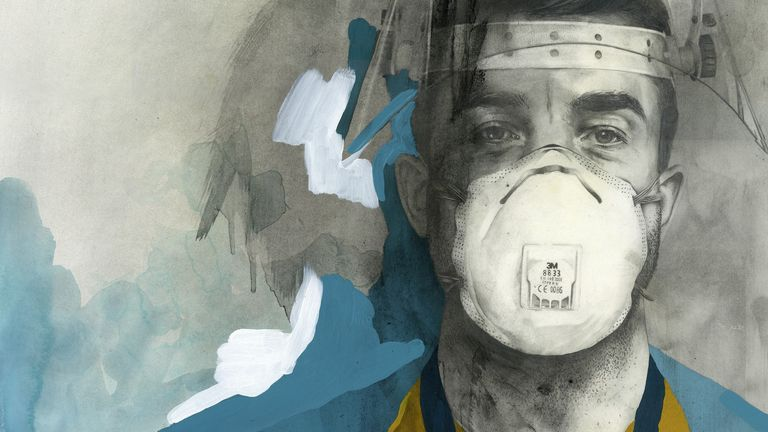 Dr Matt May by Patrick Morales-Lee for the NHS Heroes virtual exhibition