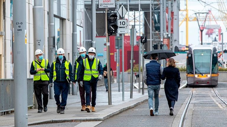Many construction workers went back to work last week in Ireland