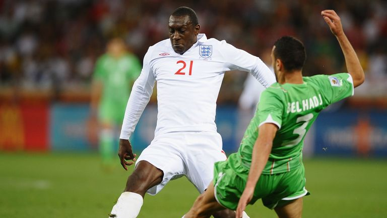Emile Heskey during the 2010 FIFA World Cup match between England and Algeria