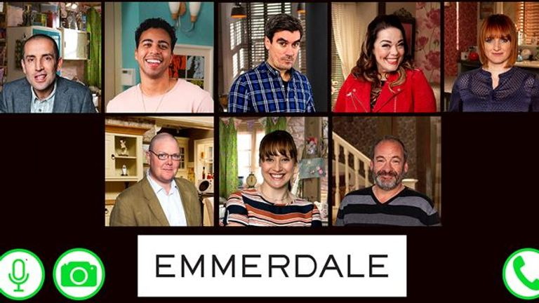 Filming on Emmerdale was stopped in March due to the lockdown