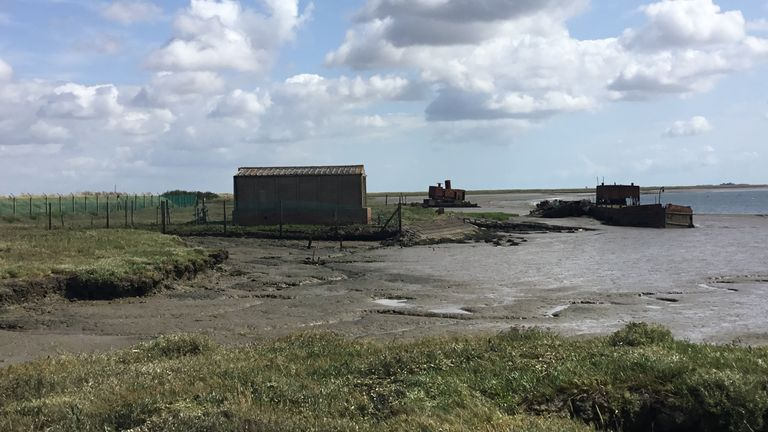 The site of the dock in Essex where Historic England say the HMS Beagle was probably dismanlted