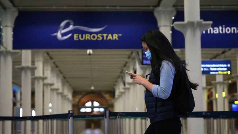The Eurostar is still operating a reduced service but there are restrictions on who can travel