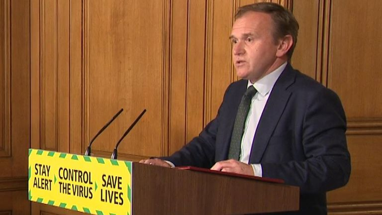 Environment secretary George Eustice announced the 'Pick for Britain' website where furloughed workers could make extra money working on farms.