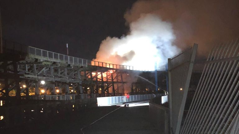 The fire broke out at around 2.30am on Saturday